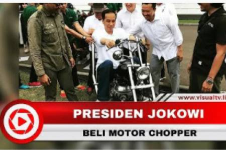 Wujud Motor Chopper Modifikasi Pesanan Jokowi