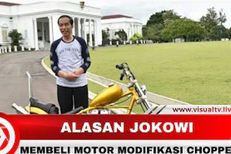 Motor Pesanan Tiba, Ini Alasan Jokowi Membeli Motor Modifikasi Chopper