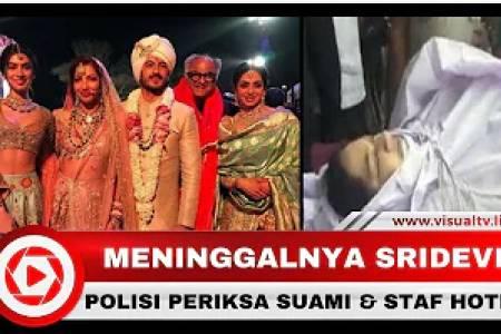 Sridevi Meninggal karena Tenggelam, Polisi Periksa Suami dan Staf Hotel