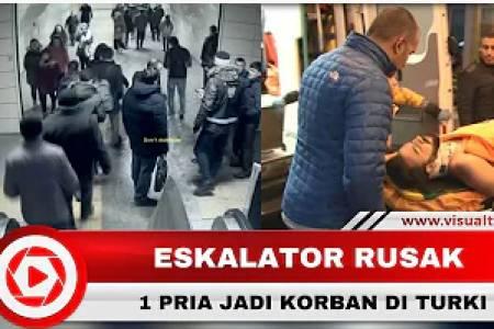 Ngerinya Detik-detik Eskalator yang Ambrol di Turki