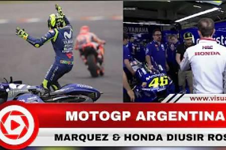 Drama GP Argentina, Marquez Diusir Rossi ketika Minta Maaf Usai Pertandingan