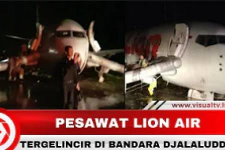 Lion Air Tergelincir Saat Mendarat di Gorontalo, Bandara Ditutup Sementara