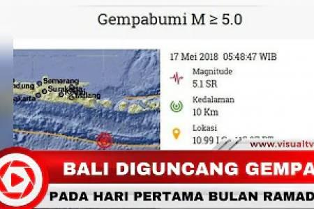 Gempa 5,1 SR Guncang Klungkung Bali, tetapi Tidak Berpotensi Tsunami