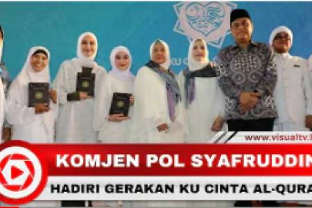 Wakapolri dan Selebritas Hadiri Gerakan Ku Cinta Al-Quran di Istiqlal