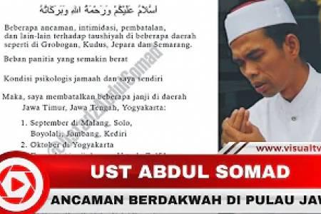 Ustadz Abdul Somad Batalkan Sejumlah Tausiyah di Pulau Jawa, Akibat Ancaman dan Intimidasi