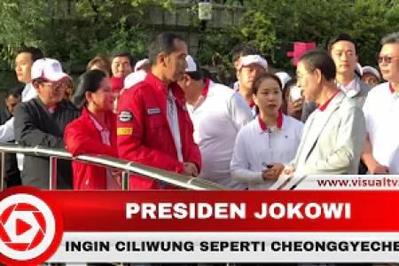 Presiden Jokowi Ingin Sungai Ciliwung Bersih Seperti Cheonggyecheon yang Membelah Kota Seoul