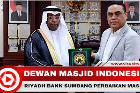 Riyadh Bank Sumbang Perbaikan Masjid Melalui DMI, Pasca Bencana Sulawesi Tengah